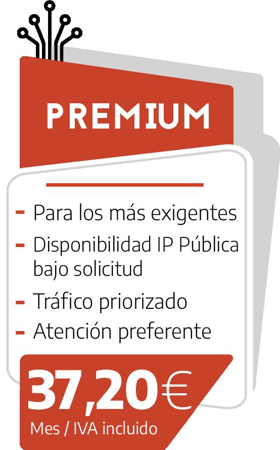 Internet sin límites Tarifa Premium
